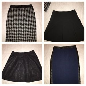 4 Skirts Size 2 Houndstooth Pencil A-Line Express
